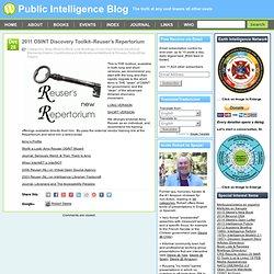 2011 OSINT Discovery Toolkit–Reuser's Repertorium