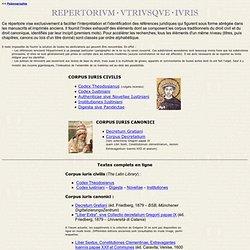Repertorium utriusque iuris