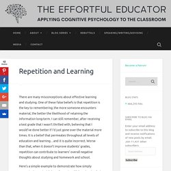 Repetition and Learning