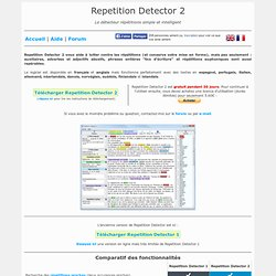 Repetition Detector