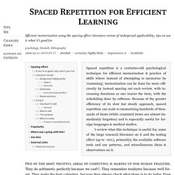 Spaced Repetition for Efficient Learning