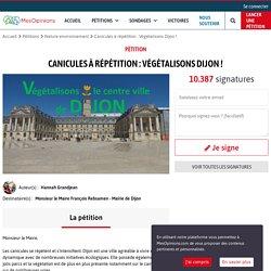 Canicules à répétition : Végétalisons Dijon !