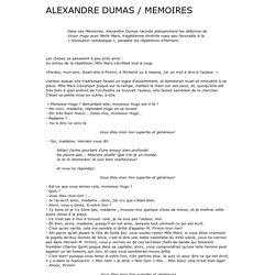 Dumas : les répétitions d'Hernani, dans ses Mémoires.