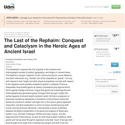 The Last of the Rephaim: Conquest and Cataclysm in the Heroic Ages of Ancient Israel