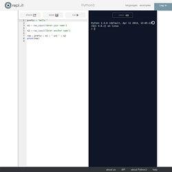 repl.it - Python3