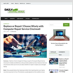 Replace or Repair! Choose Wisely with Computer Repair Service Cincinnati