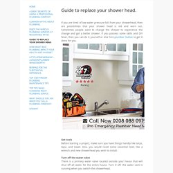 Guide to replace your shower head. - Pro Emergency Plumber Near Me