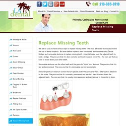 Replace Missing Teeth