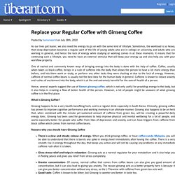 Replace your Regular Coffee with Ginseng Coffee