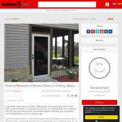 How to Replace a Screen Door in 11 Easy Steps Article