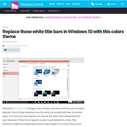 Replace those white title bars in Windows 10 with this colors theme