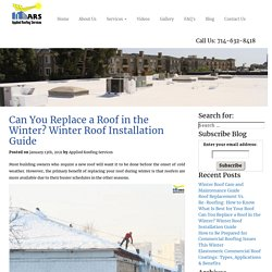 Can You Replace a Roof in the Winter? - Winter Roof Installation Guide