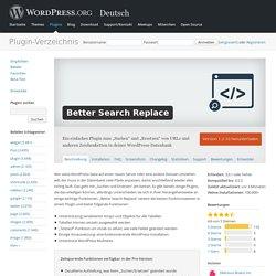 Better Search Replace — WordPress Plugins