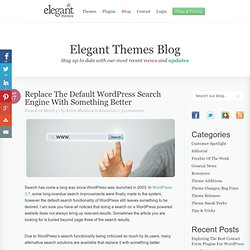 Replace The Default WordPress Search Engine With Something Better