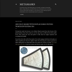 Are Face masks with replaceable filters worth investing in?