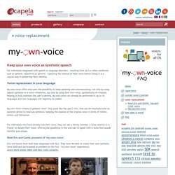 Acapela group - Voice synthesis - Text to Speech