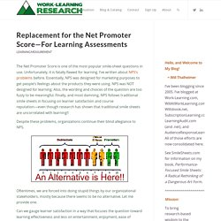 Replacement for the Net Promoter Score—For Learning Assessments