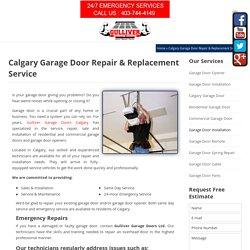 Garage Door Repair & Replacement in Calgary