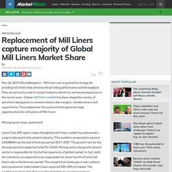 Replacement of Mill Liners capture majority of Global Mill Liners Market Share