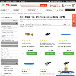 Shop For Auto Glass Tools and Replacement Components Online