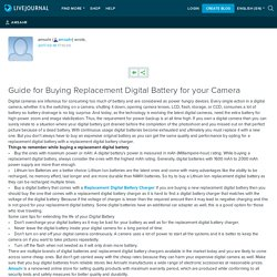 Guide for Buying Replacement Digital Battery for your Camera : amsahr