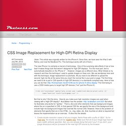 CSS Image Replacement for High-DPI Retina Display – Phatness.com