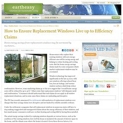 How to Ensure Replacement Windows Live up to Efficiency Claims