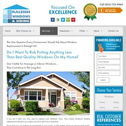 Install new windows in Raleigh