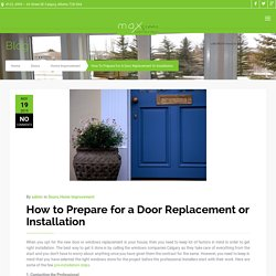 Tips to Prepare for your Home Door Installation