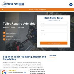 Toilet Replacement & Installation Adelaide