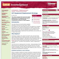 ICT Equipment Replacement Strategy: Lasa knowledgebase