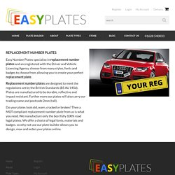 Replacement Number Plates - Easy Number Plates