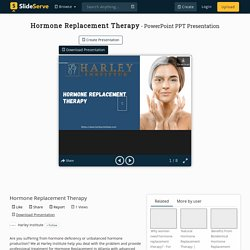 Hormone Replacement Therapy in Atlanta