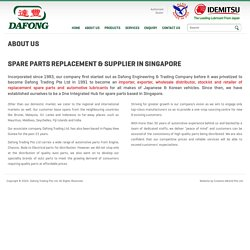 Spare Parts Replacement & Supplier in Singapore – Dafong Trading