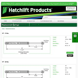 Replacement Springs - Hatchlift