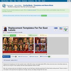 Mod the Sims 2 - Replacement Templates For Far East Locals
