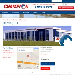 Replacement Windows, Sunrooms & More in Denver, CO