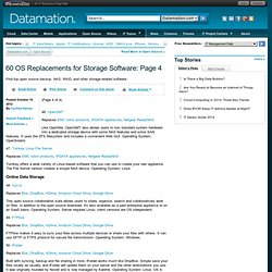 60 OS Replacements for Storage Software: Page 4