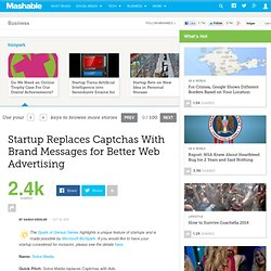 Startup Replaces Captchas With Brand Messages for Better Web Advertising