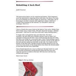 Replacing a Sock Heel