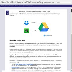 Replacing Dropbox and Evernote to Google Drive