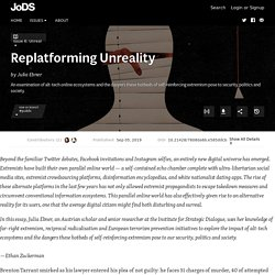 Replatforming Unreality · Journal of Design and Science