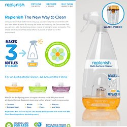 Replenish - A Better Cleaner in a Smarter Bottle™
