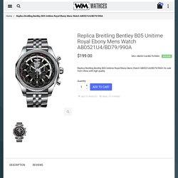 Cheap Replica Breitling Bentley B05 Unitime Royal Ebony Mens Watch AB0521U4/BD79/990A For Sale