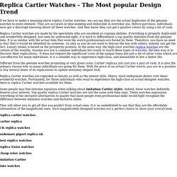 Buy replica cartier watches online store!