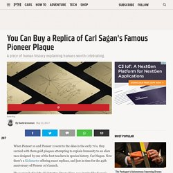 You Can Buy a Replica of Carl Sagan's Famous Pioneer Plaque