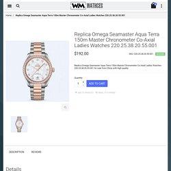 Cheap Replica Omega Seamaster Aqua Terra 150m Master Chronometer Co-Axial Ladies Watches 220.25.38.20.55.001 For Sale