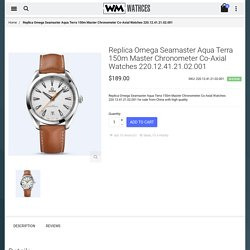 Cheap Replica Omega Seamaster Aqua Terra 150m Master Chronometer Co-Axial Watches 220.12.41.21.02.001 For Sale
