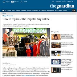 How to replicate the impulse buy online