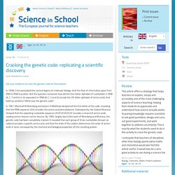 Cracking the genetic code: replicating a scientific discovery